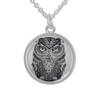 MYSTIC OWL TALISMAN STERLING SILVER NECKLACE
