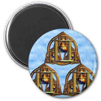 Mystic Pagodas 2 Inch Round Magnet