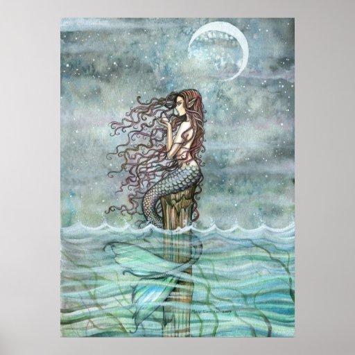 Mystic Pearl Mermaid Fantasy Art Poster Print