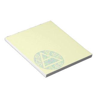 Mystic Plato's Air Symbol New Age Triad Art Notes Note Pad