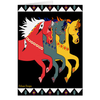 Mystic Ponies All Occassion Greeting Card