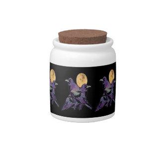 Mystic Purple Raven Moon by Sharles Candy Jar