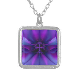 Mystic Purple Silver Plated Necklace