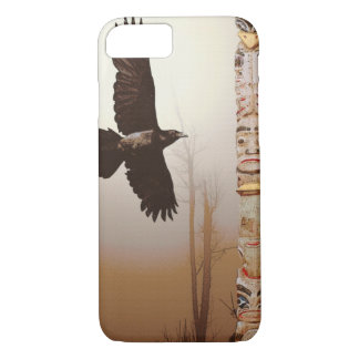 Mystic Raven & Haida Totem-Pole Crow-lover Art iPhone 8/7 Case