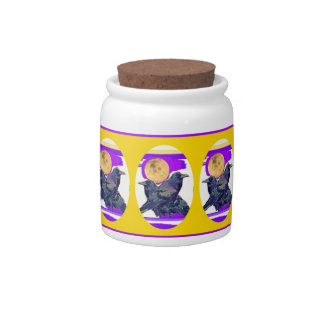 Mystic Raven Moon Gifts by Sharles Candy Jar