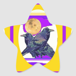 Mystic Raven Moon Gifts by Sharles Star Sticker