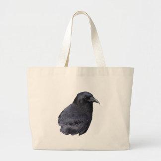 Mystic Raven Portrait Celtic Pagan Art Bags