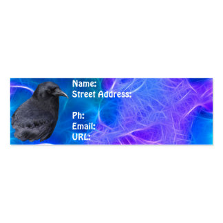Mystic Raven Portrait Celtic Pagan Art Double-Sided Mini Business Cards (Pack Of 20)