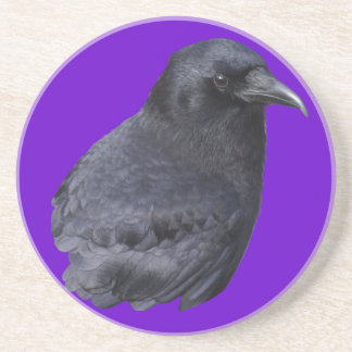 Mystic Raven Portrait Celtic Pagan Art Drink Coaster
