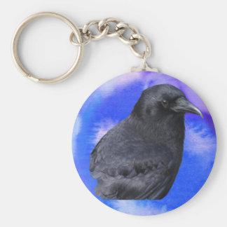 Mystic Raven Portrait Celtic Pagan Art Keychain