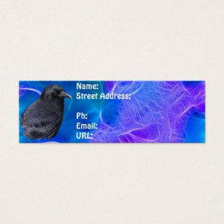 Mystic Raven Portrait Celtic Pagan Art Mini Business Card