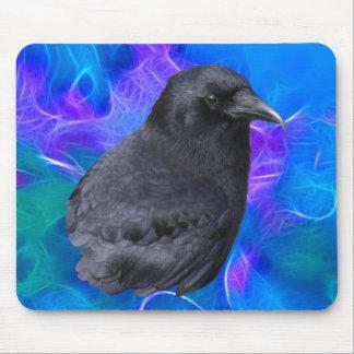 Mystic Raven Portrait Celtic Pagan Art Mousepad