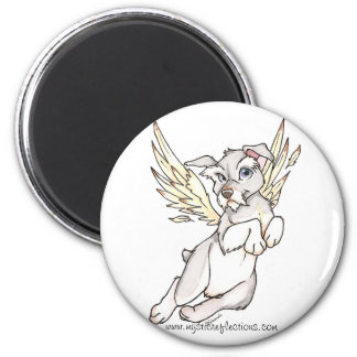 Mystic Reflections Flying Dog Magnet