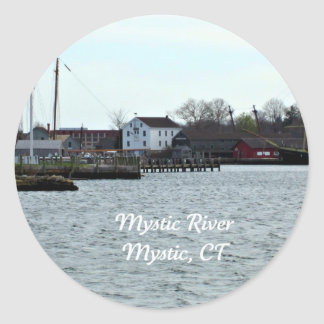 Mystic River, Connecticut Classic Round Sticker