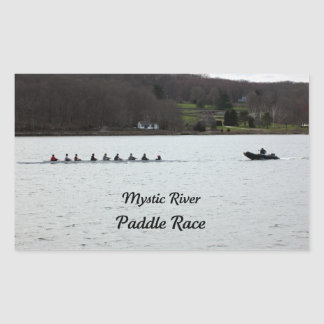 Mystic River Paddle Race Rectangular Sticker