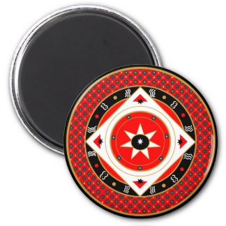 Mystic Rooster Oracle Red Star Magnet