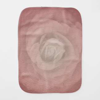 Mystic Rose - Faded Vintage - Coral Shell Baby Burp Cloth