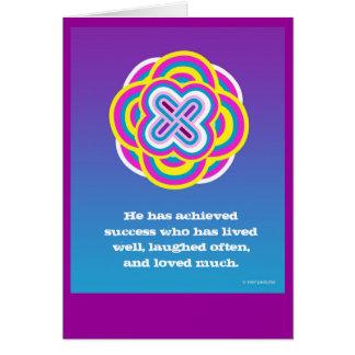 Mystic Rose Knot Card by DARLENE