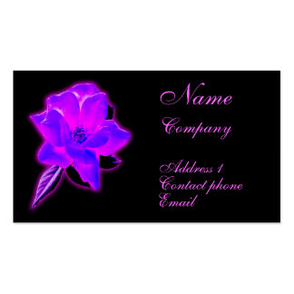 Mystic rose purple neon glow business card