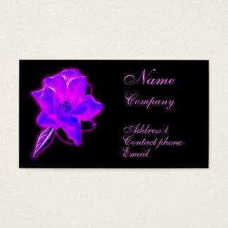 Mystic rose purple neon glow business card