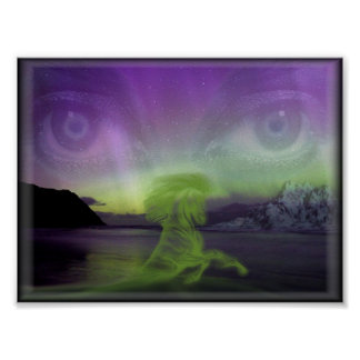 mystic scene print