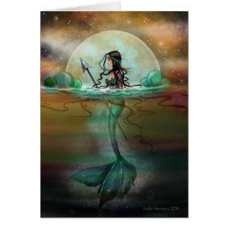 Mystic Sea Mermaid Fantasy Art by Molly Harrison Greeting Card