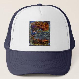 Mystic Seas Shell Beach and Ocean Trucker Hat