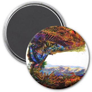 Mystic Seas Shell Beach Edit 3 Inch Round Magnet
