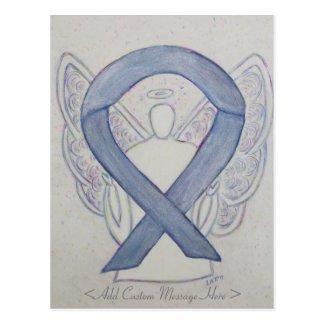 Mystic Silver Awareness Ribbon Angel Postcard