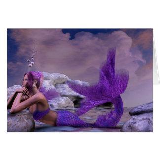 Mystic Siren Fantasy Mermaid BLANK Stationary Card