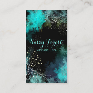 mystic starry forest massage therapy business card - Massage Therapy Business Cards