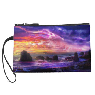 Mystic Sunset Sueded Clutch