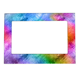 Mystic Topaz Blue Glassy Texture Magnetic Picture Frame