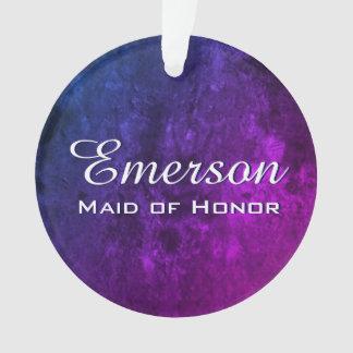 Mystic-Topaz Bridal Party Purple Blue Pink Favor Ornament