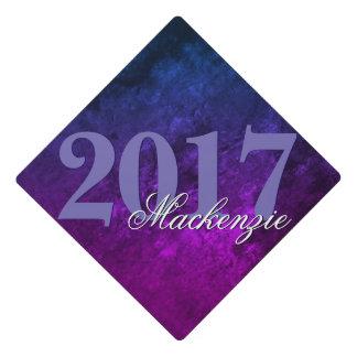 Mystic-Topaz Grad   Year Blue Pink Purple Ombre   Graduation Cap Topper