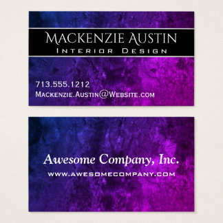 Mystic-Topaz Office | Chic Blue Purple Pink Ombre Business Card