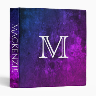 Mystic-Topaz Office | Name Purple Pink Blue Ombre Binder