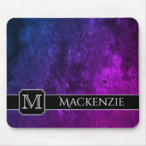 Mystic-Topaz Office | Name Purple Pink Blue Ombre Mouse Pad