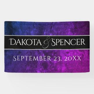 Mystic-Topaz Wedding Blue Purple Reception Party Banner