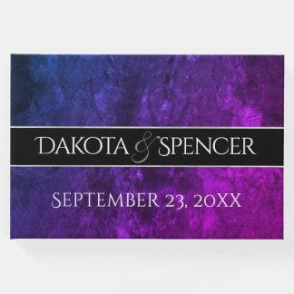 Mystic-Topaz Wedding Blue Purple Reception Party Guest Book