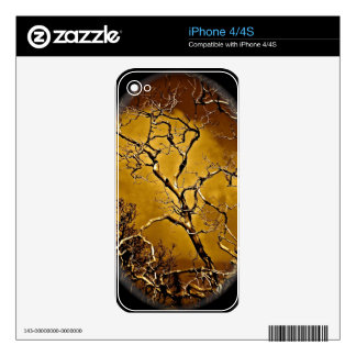 Mystic tree branches in antique vignette iPhone 4 decal
