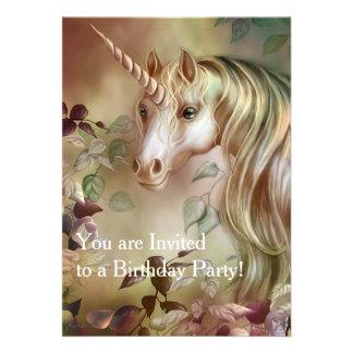 Mystic Unicorn Birthday Invitation Card