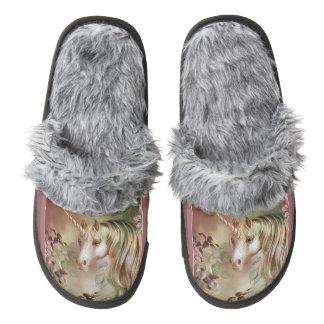 Mystic Unicorn Pair Of Fuzzy Slippers