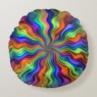 Mystic Vibrations Round Throw Pillow
