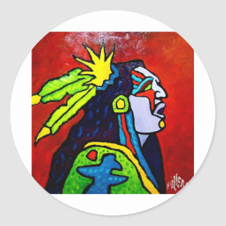 Mystic Warrior # 1 by Piliero Classic Round Sticker