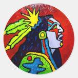 Mystic Warrior # 1 by Piliero Sticker