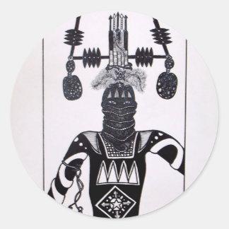 Mystic Warrior 4 by Piliero Classic Round Sticker
