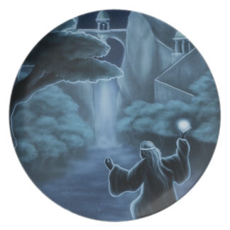 mystic waters fantasy dinner plates
