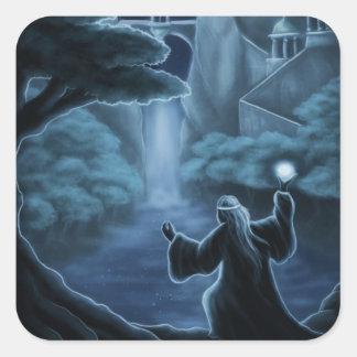 mystic waters fantasy square sticker