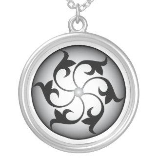 Mystic Wheel Round Pendant Necklace